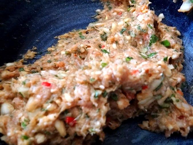 Gefüllte Portobello,Kartoffelstampf mit Rucola,Salate (10)
