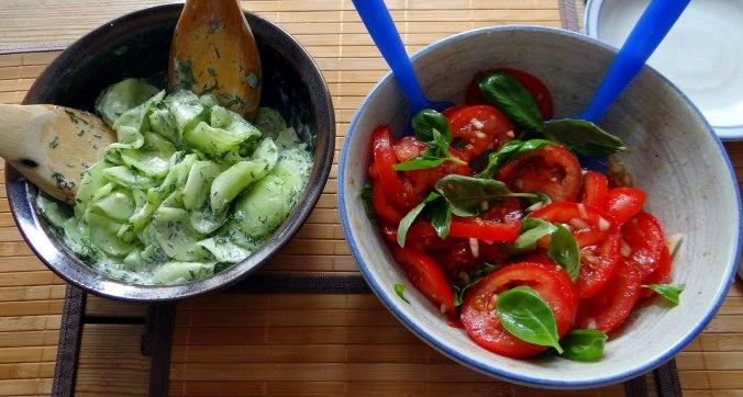 Gefüllte Portobello,Kartoffelstampf mit Rucola,Salate (15)
