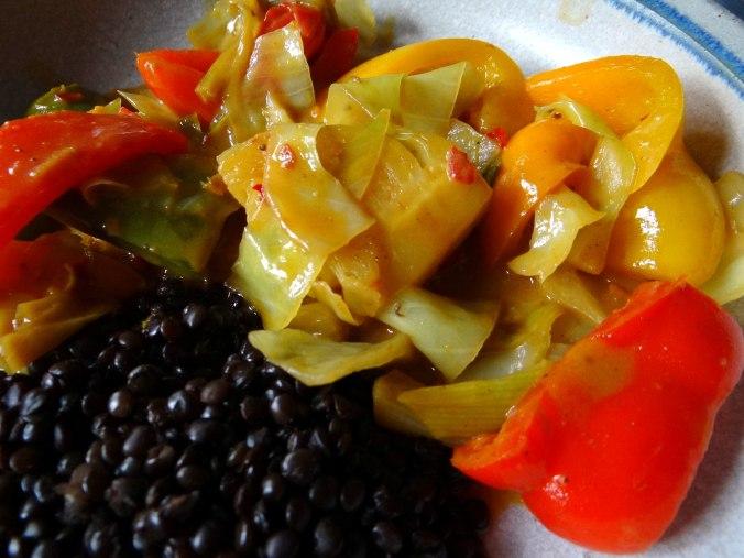 Gemüse in Kokosmilch mit Belugalinsen (3)