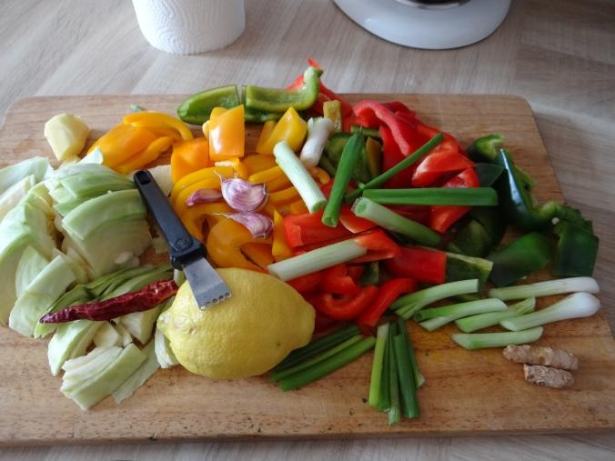 Gemüse in Kokosmilch mit Belugalinsen (6)