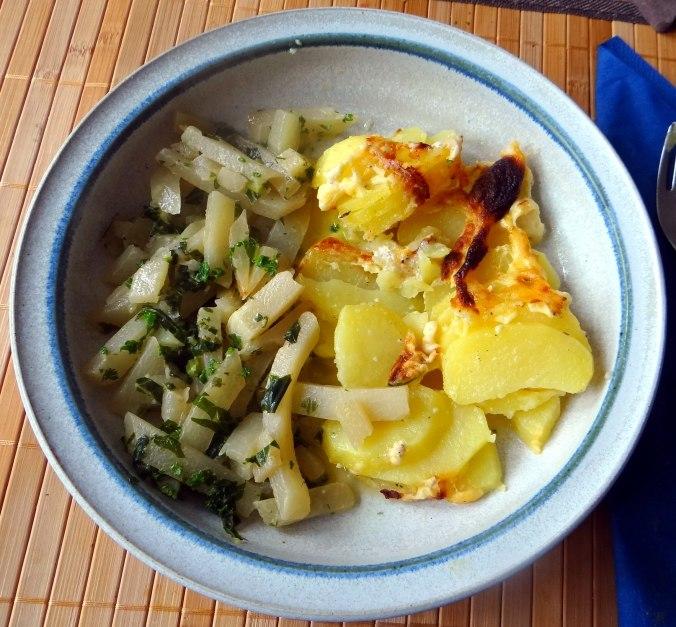 Kohlrabigemüse,Kartoffelgratin,vegetarisch (1)