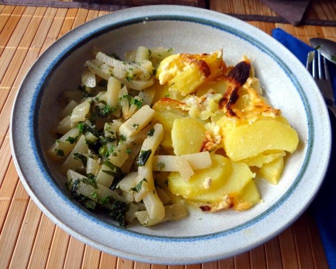 Kohlrabigemüse,Kartoffelgratin,vegetarisch (14)