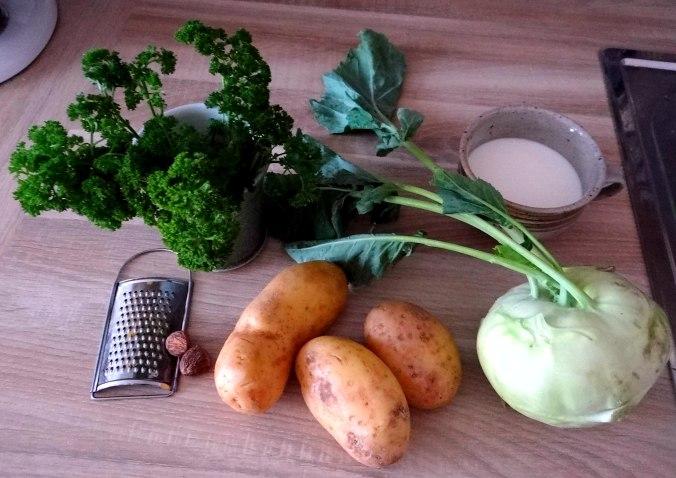 Kohlrabigemüse,Kartoffelgratin,vegetarisch (4)