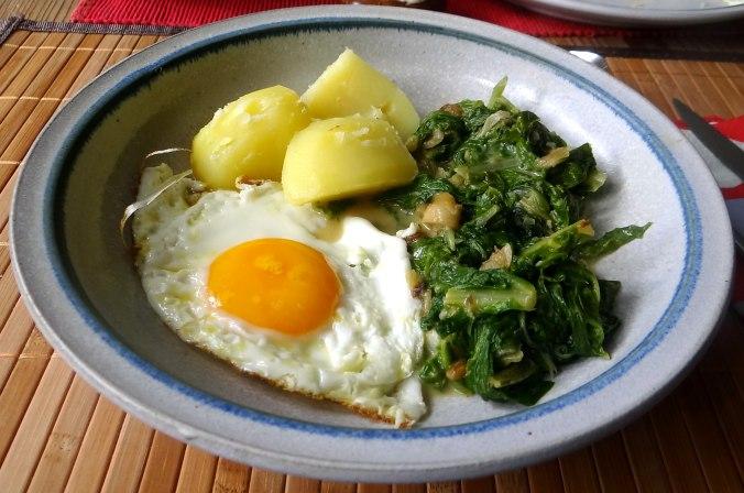 Mangold,Salzkartoffeln,Spiegelei,vegetarisch (22)