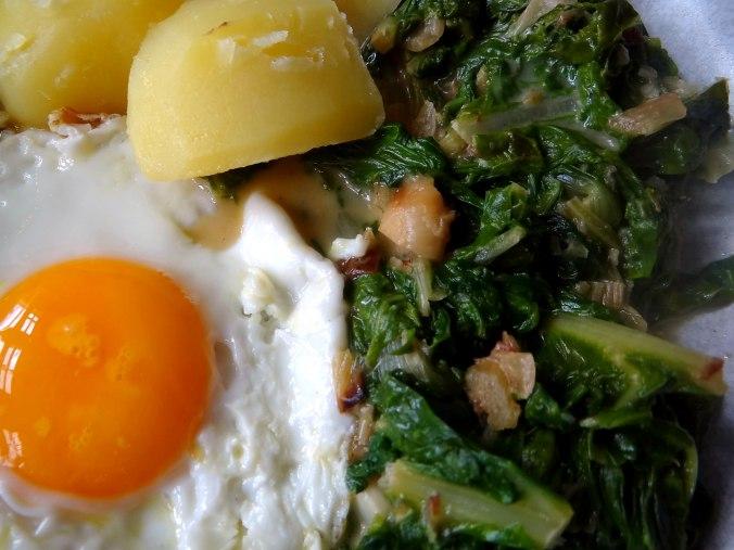 Mangold,Salzkartoffeln,Spiegelei,vegetarisch (3)