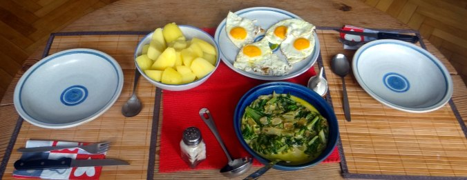 Mangold,Salzkartoffeln,Spiegelei,vegetarisch (4)