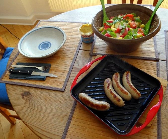 Mediterraner Kartoffelsalat,Bratwurst (4)