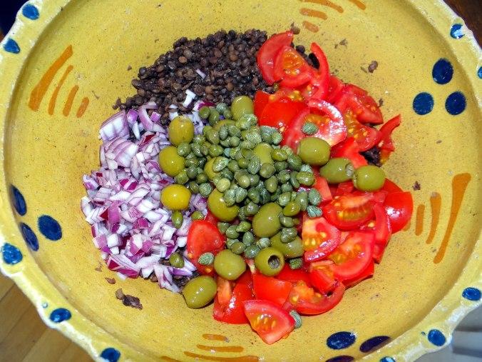 Muschel-Linsensalat,Gurkensalat,pescetarisch (13)