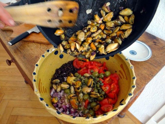 Muschel-Linsensalat,Gurkensalat,pescetarisch (14)