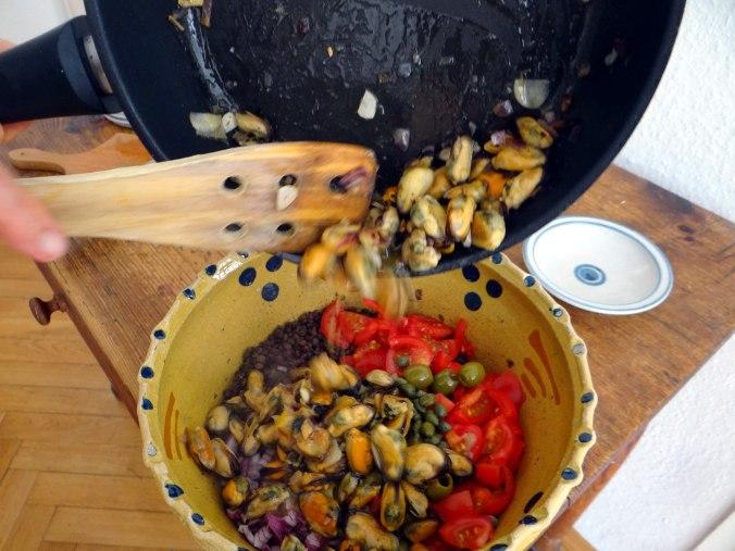 Muschel-Linsensalat,Gurkensalat,pescetarisch (15)