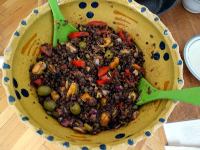 Muschel-Linsensalat,Gurkensalat,pescetarisch (16)