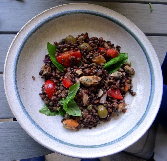 Muschel-Linsensalat,Gurkensalat,pescetarisch (17)