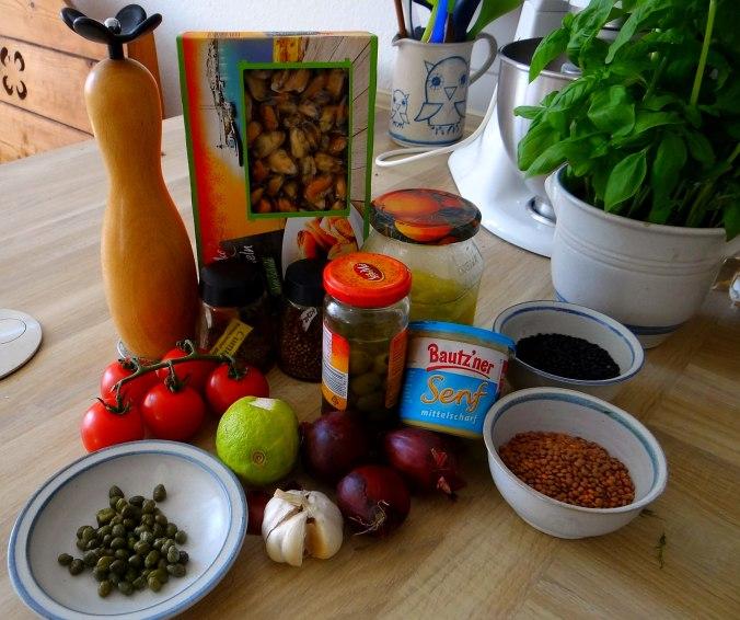 Muschel-Linsensalat,Gurkensalat,pescetarisch (5)