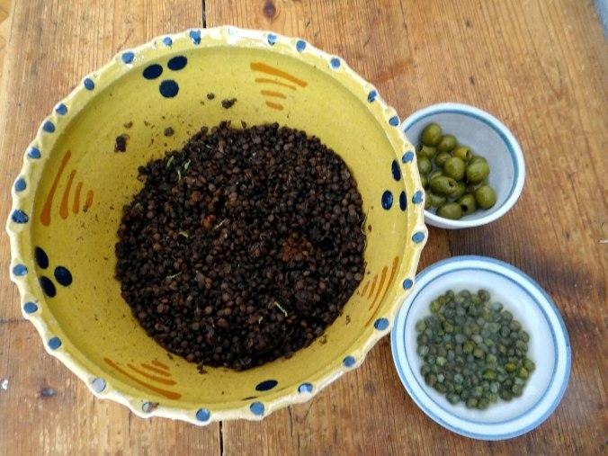 Muschel-Linsensalat,Gurkensalat,pescetarisch (9)