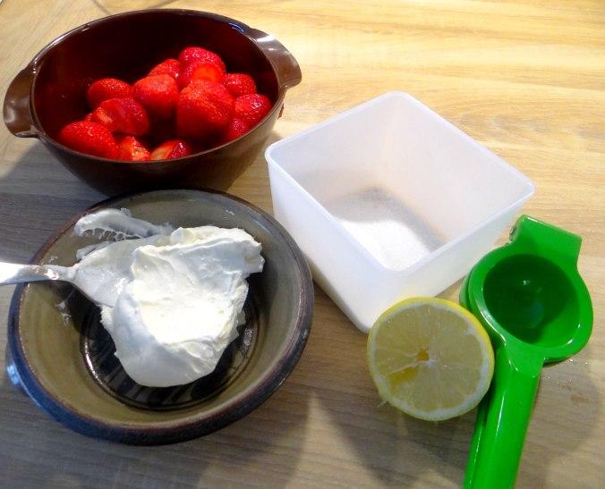 Nudeln mit Meeresfrüchten,Erbsen,Erdbeereis,vegetarisch (31)