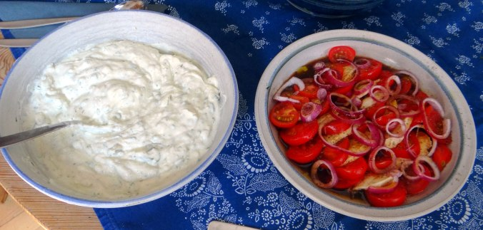Quark,Salate,Pellkartoffeln,Obstsalat (12)