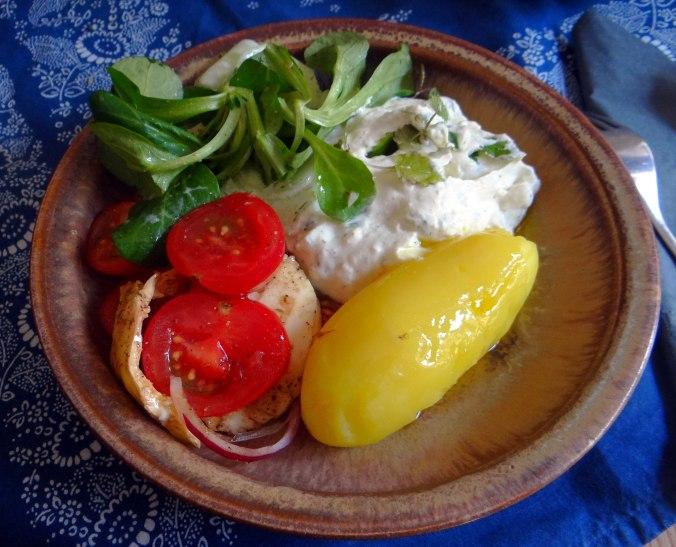 Quark,Salate,Pellkartoffeln,Obstsalat (13)