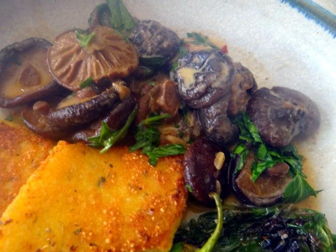 Shitake,Polenta,Pimientos,Salat, (3)