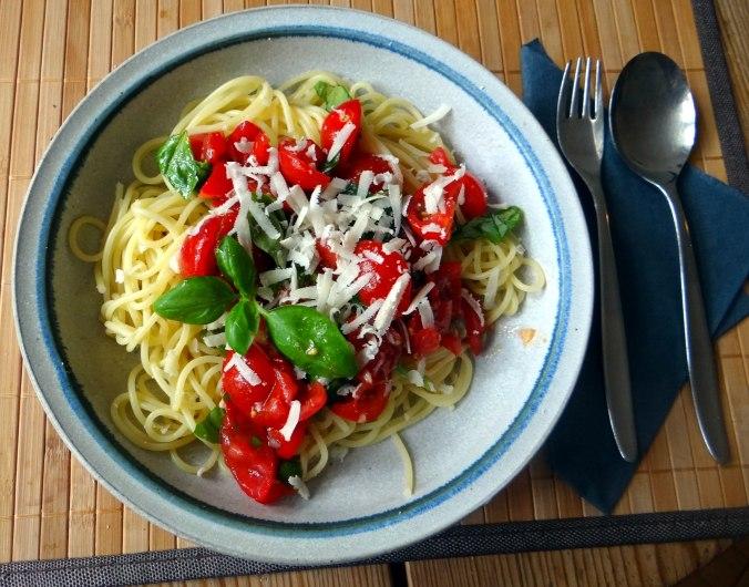 Spaghetti mit Keka,Waffeln (2)
