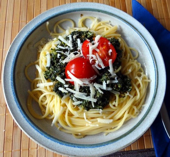 Spaghetti mit Wildkräutern (1)