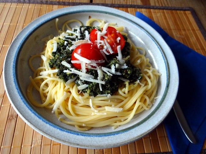 Spaghetti mit Wildkräutern (16)
