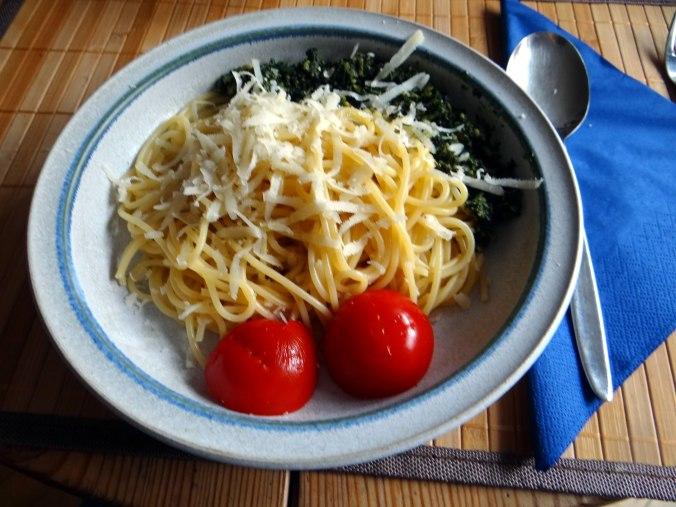 Spaghetti mit Wildkräutern (2)