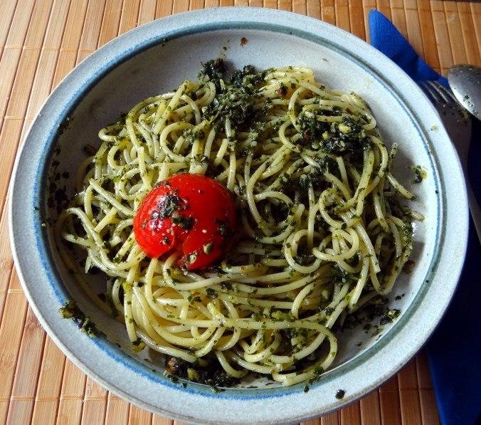 Spaghetti mit Wildkräutern (3)