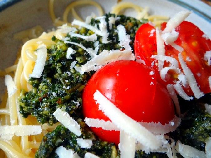 Spaghetti mit Wildkräutern (4)
