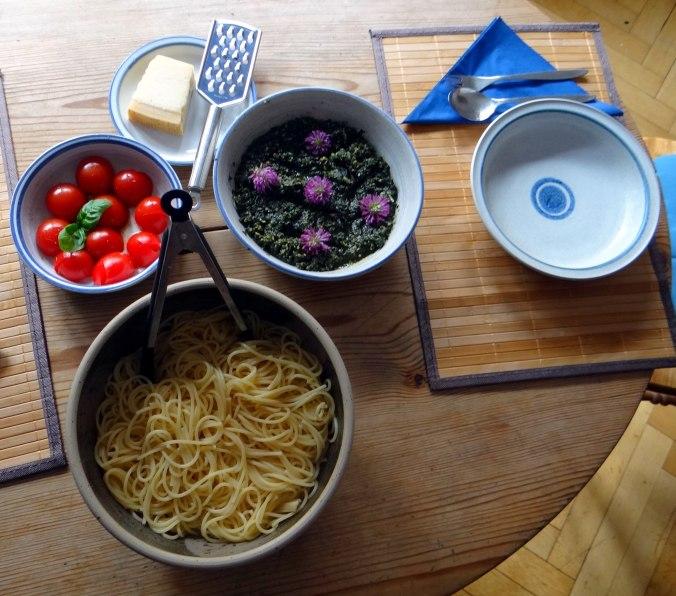 Spaghetti mit Wildkräutern (5)
