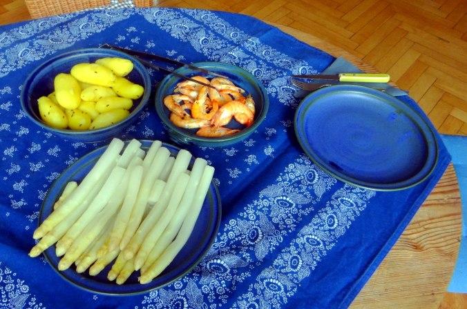Spargel,Garnelen,Neue Kartoffeln,vegetarisch (13)