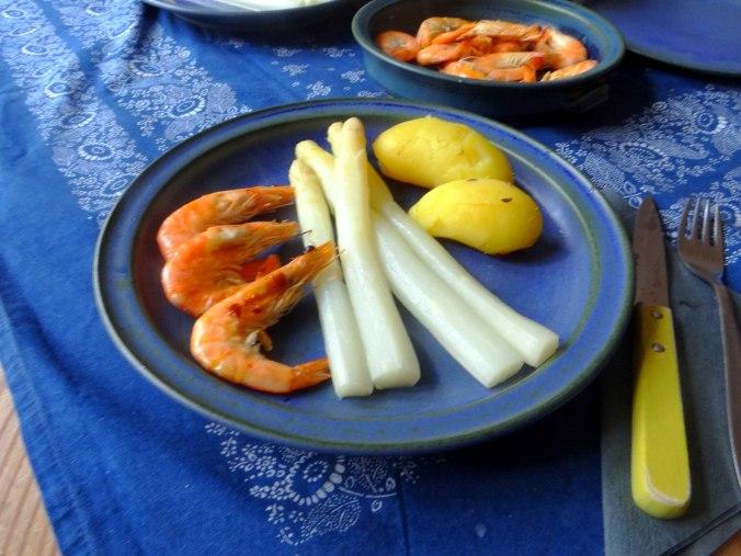 Spargel,Garnelen,Neue Kartoffeln,vegetarisch (14)