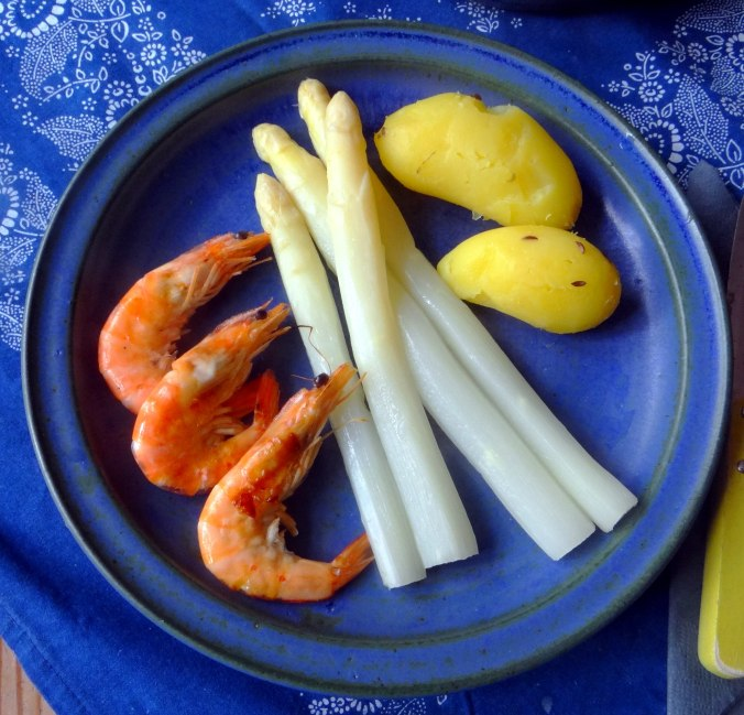 Spargel,Garnelen,Neue Kartoffeln,vegetarisch (2)