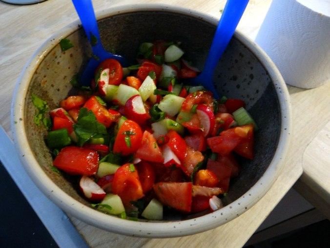 Zucchini Puffer,Salat (15)
