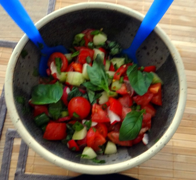 Zucchini Puffer,Salat (16)