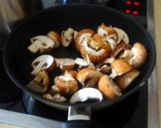 Champignon Risotto,Salat,vegetarisch (10)
