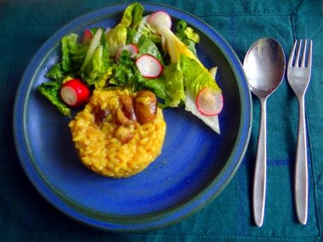 Champignon Risotto,Salat,vegetarisch (23)