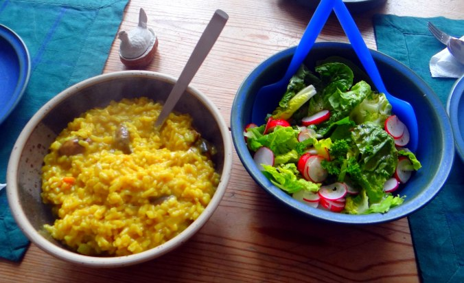 Champignon Risotto,Salat,vegetarisch (3)