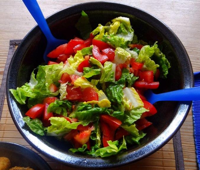 Fritierte Portobello,Bratkartoffeln,Pimientos,Salat,vegan (16)