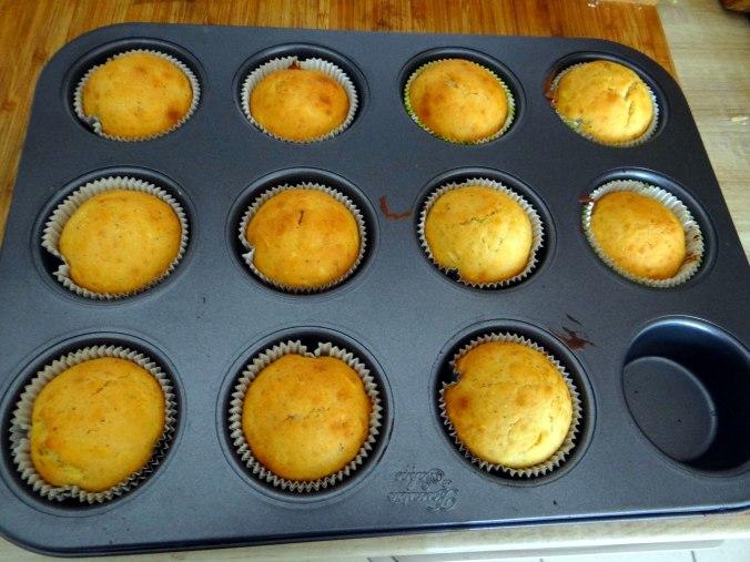 Gebratener Feta,Tomatensalat,Pellkartoffeln,Muffins,Apfelmuffins,vegetarisch (16)
