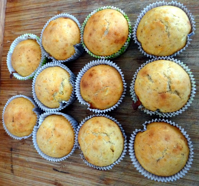 Gebratener Feta,Tomatensalat,Pellkartoffeln,Muffins,Apfelmuffins,vegetarisch (17)