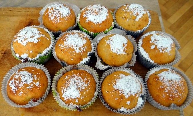 Gebratener Feta,Tomatensalat,Pellkartoffeln,Muffins,Apfelmuffins,vegetarisch (18)