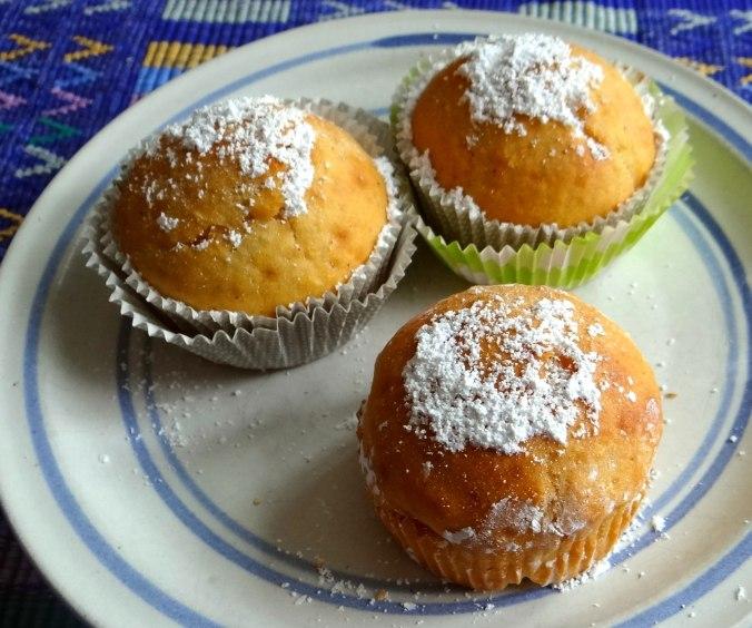 Gebratener Feta,Tomatensalat,Pellkartoffeln,Muffins,Apfelmuffins,vegetarisch (6)