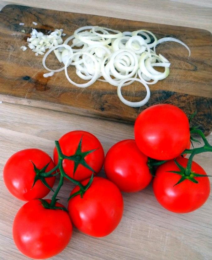 Gebratener Feta,Tomatensalat,Pellkartoffeln,Muffins,Apfelmuffins,vegetarisch (7)