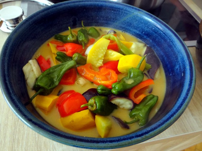 Gemüse in Kokosmilch,Vanillepudding,Sahne (13)