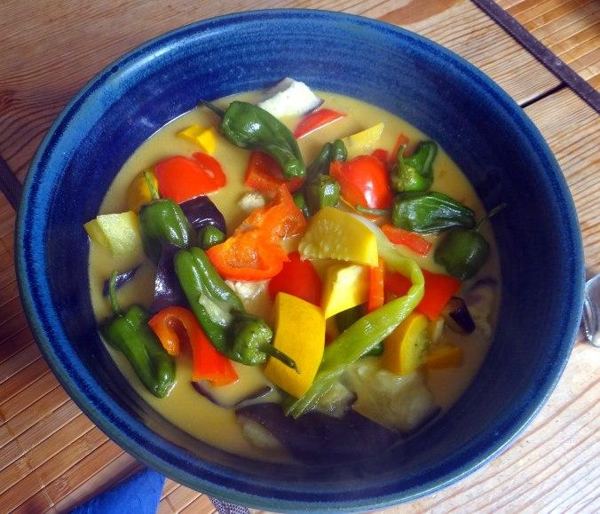 Gemüse in Kokosmilch,Vanillepudding,Sahne (14)