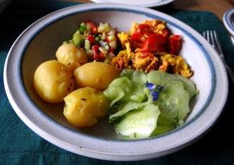 Kartoffeln,Rührei,Salate (12)