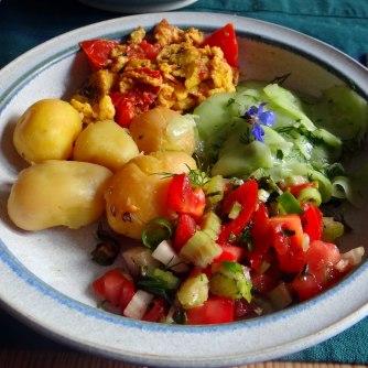 Kartoffeln,Rührei,Salate (14)
