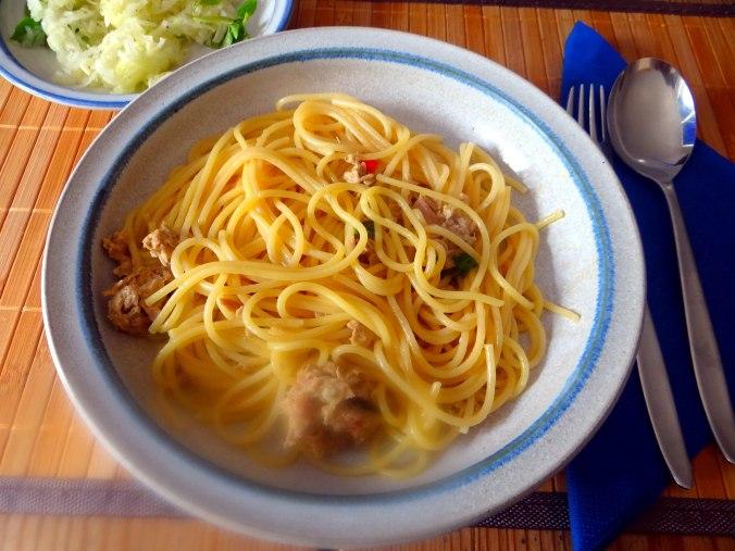 Pasta al Tonno,Spagetthi mit Thunfisch (1)