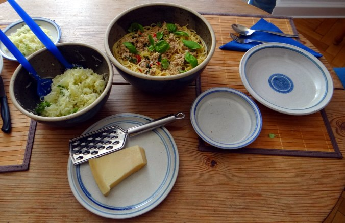 Pasta al Tonno,Spagetthi mit Thunfisch (2)