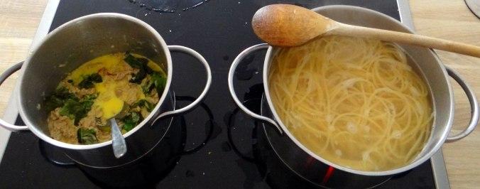 Pasta al Tonno,Spagetthi mit Thunfisch (4)